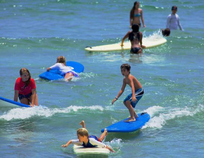 Surf Camp is for the beginner and advanced surfer. If you already know how to surf, you will learn competitive strategies and accelerate your surfing skills.