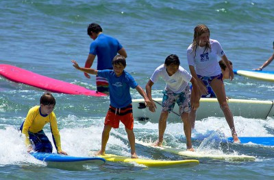 Blue Water's Surf Camp is suitable for kids of all ages and skill levels.