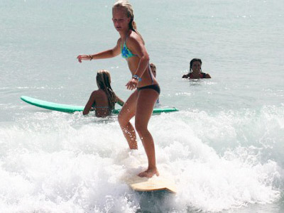 Learn to surf over Winter Break at Blue Water Surfing's Winter Break Surf Camp