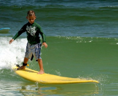 Summer surf camp at Blue Water Surfing