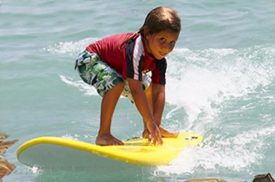Private and group surfing lessons are available from Blue Water Surfing