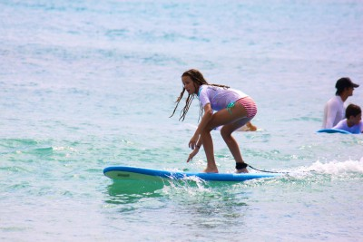 The Blue Water School of Surfing centers all of its activities on surfing and ocean safety education, all the while ensuring fun and exciting adventures.