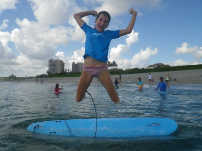 Group lessons from Blue Water Surfing Surf School include at least one instructor per five students.