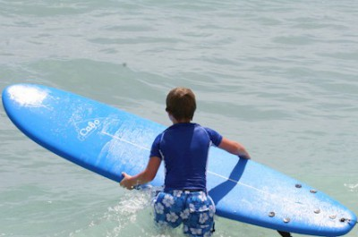 Individual private lessons are available for surfers at all skill levels.